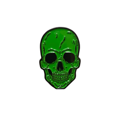 Green Skull Enamel Pin by Seventh.Ink