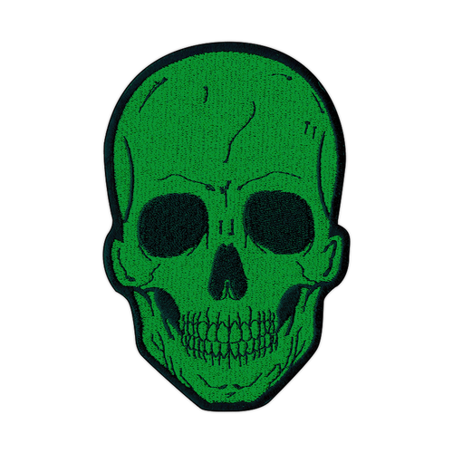 Large Green Skull Patch by Seventh.Ink