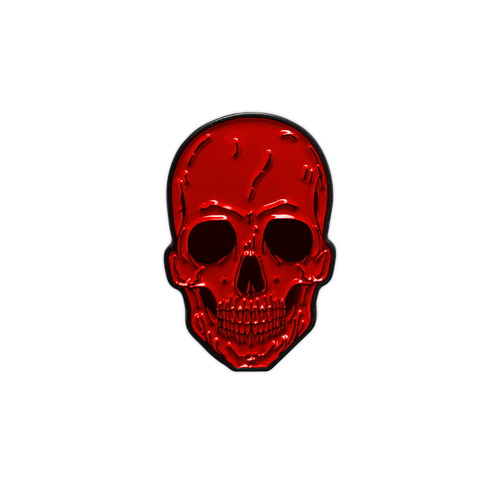 Red Skull Enamel Pin by Seventh.Ink