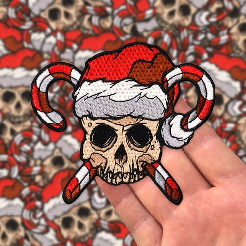 Skull and Crosscanes Patch by Seventh.Ink