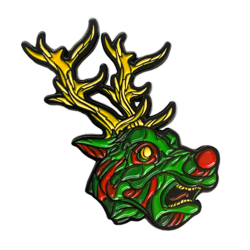 Wild Reindeer Enamel Pin by Seventh.Ink
