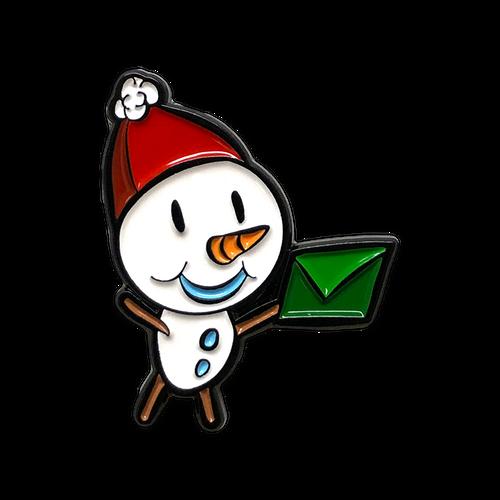 Snowman Enamel Pin by Seventh.Ink