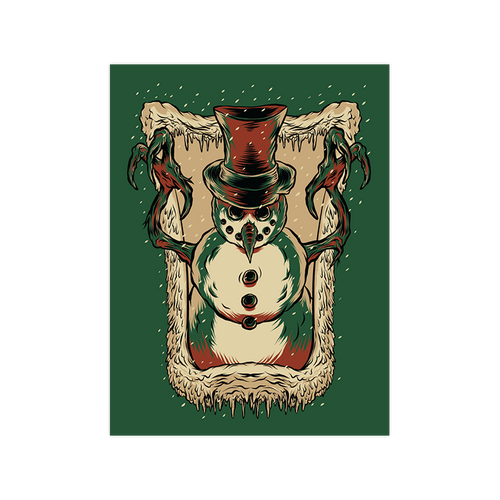 Frosty's Revenge Variant Green 9x12 Screen Print