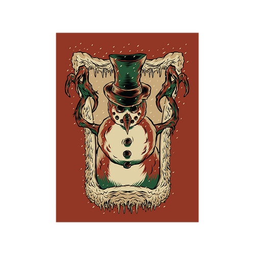 Frosty's Revenge  9x12 Screen Print