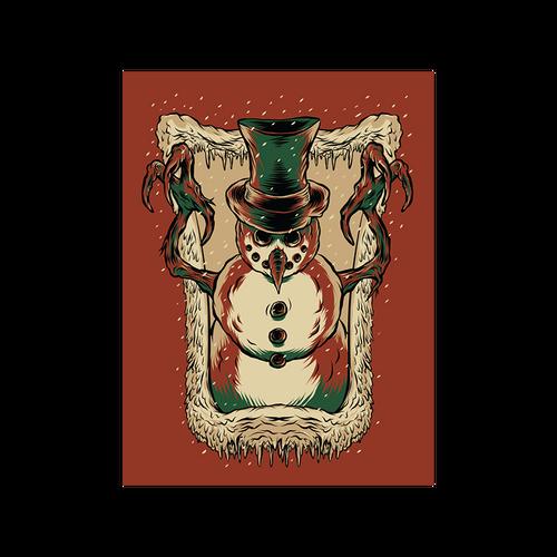Frosty's Revenge  9x12 Screen Print