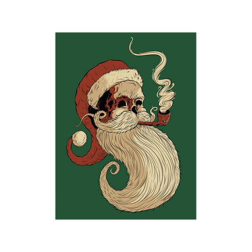 Old St. Nick  9x12 Screen Print