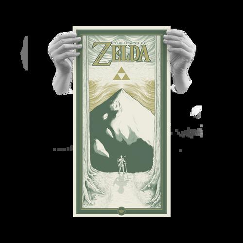 Zelda 12x24 Light Cream Variant AP Screen Print