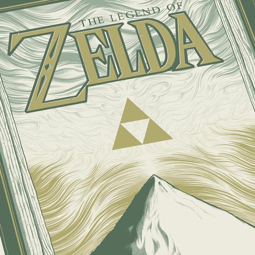Zelda 12x24 Light Cream Variant AP Screen Print Detail