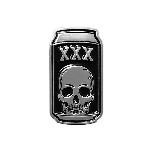 Death Beer Silver Enamel Pin