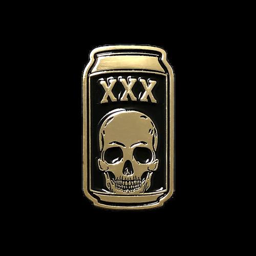 Death Beer Gold Enamel Pin