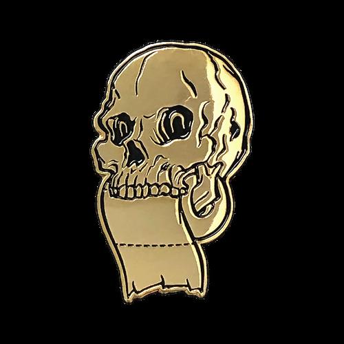 TP Skull Gold Enamel Pin