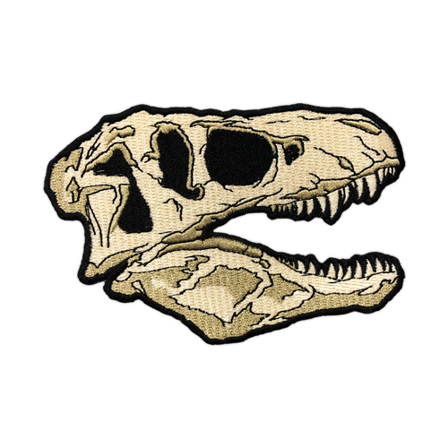 T-Rex Skull Embroidered Patch