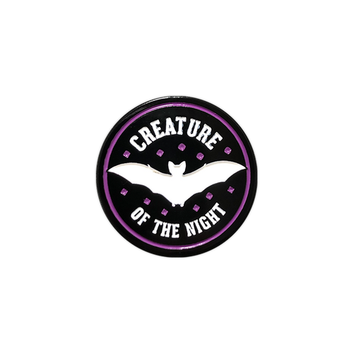 Creature of the Night Enamel Pin