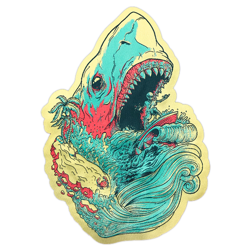 Large Hang Loose, Let's Rip Woven Patch