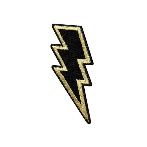 Black/Gold Lightning Bolt Patch by Seventh.Ink