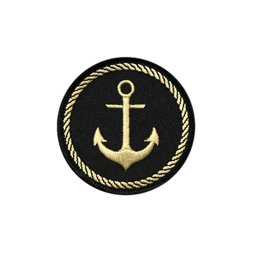 Black/Gold Anchor Badge Patch