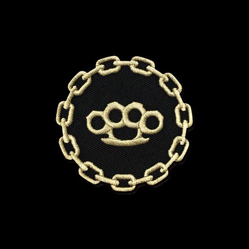 Black/Gold Brass Knuckles Patch