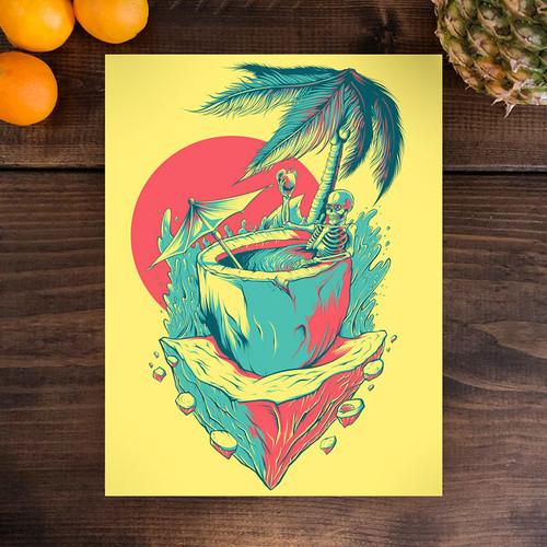 Coco Cabana 9x12 Screen Print