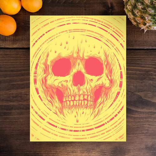 Sun Skull 9x12 Screen Print