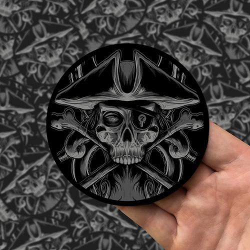 Skullduggery Noir Printed Patch