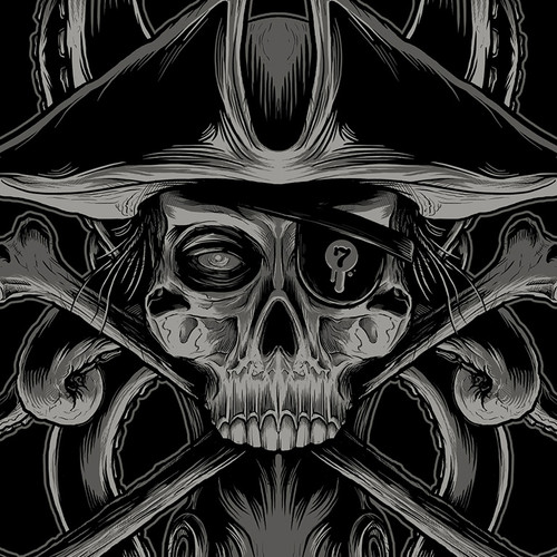 Skullduggery Noir T-Shirt
