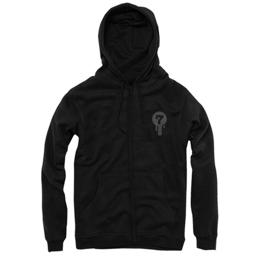 Noir Zip-Up Hoody Front