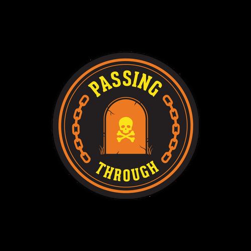 Passing Through Sticker
