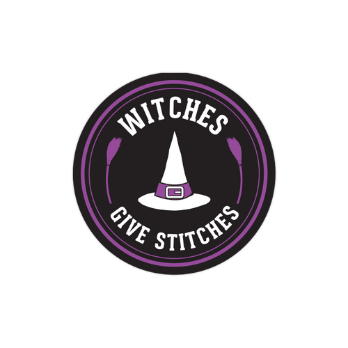 Witches Give Stitches Sticker