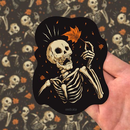 "Mapled 5"" Die Cut Sticker by Seventh.Ink"