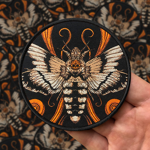 Acherontia Entwined Re-Inked Woven Patch by Seventh.Ink