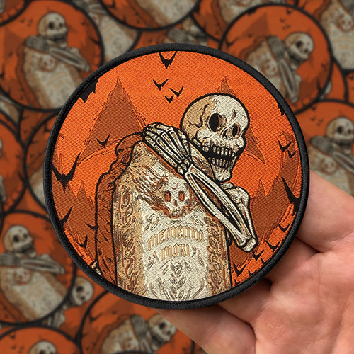 Memento Mori Woven Patch by Seventh.Ink