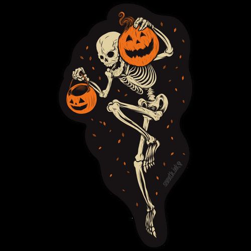 """Night of the Pumpkin 6"""" Die Cut Sticker"""