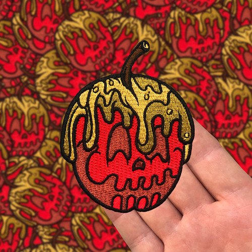 Red Candy Apple Embroidered Patch by Seventh.Ink