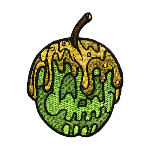 Green Candy Apple Embroidered Patch by Seventh.Ink
