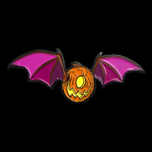 Jack O Lantern Bat Enamel Pin by Seventh.Ink