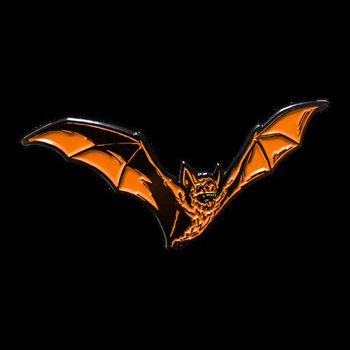 Orange Bat Enamel Pin by Seventh.Ink