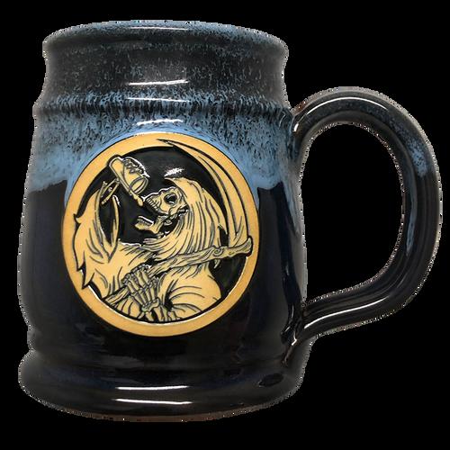 Drinkin' Reaper Blackish Blue  w/ Powder Blue Tankard