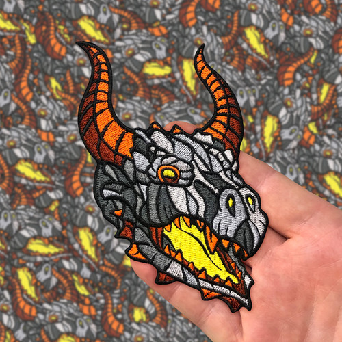 Dragon Head Patch by Seventh.Ink