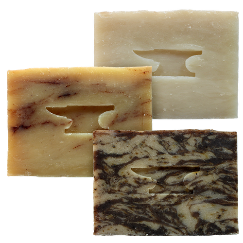 Gift Set - Three 4oz Soap Bars by Seventh.Ink and Forged Supply Co