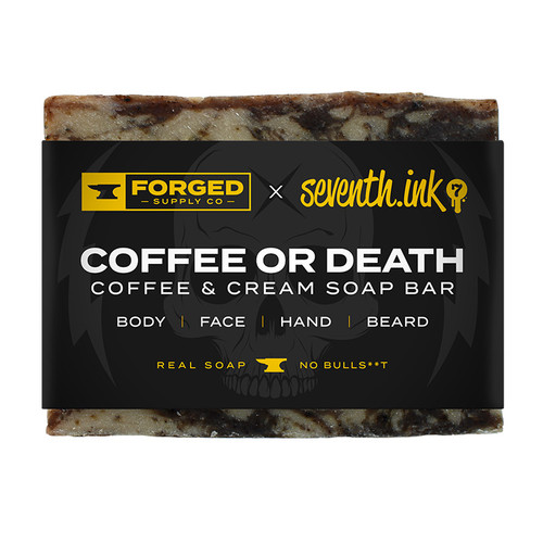 Coffee & Cream 4oz Soap Bar by Seventh.Ink and Forged Supply Co