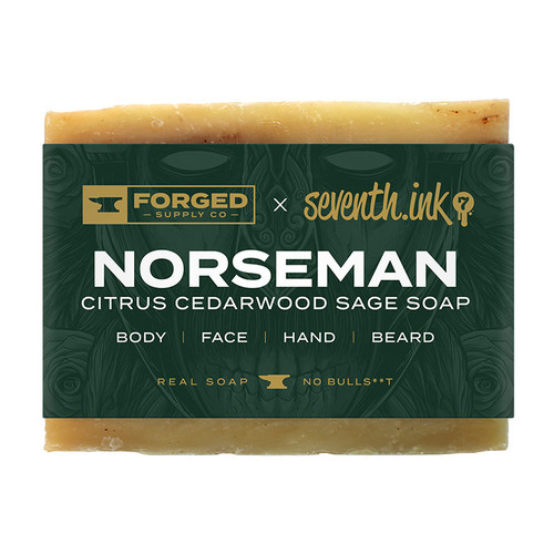 Norseman 4oz Soap Bar by Seventh.Ink and Forged Supply Co
