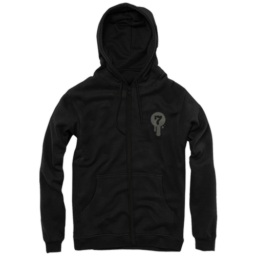 Drinkin' Reaper Zip-Up Hoody by Seventh.Ink