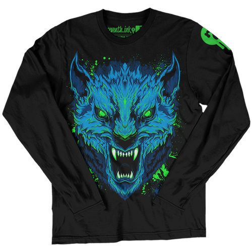 Alpha Wolf long sleeve shirt by Seventh.Ink