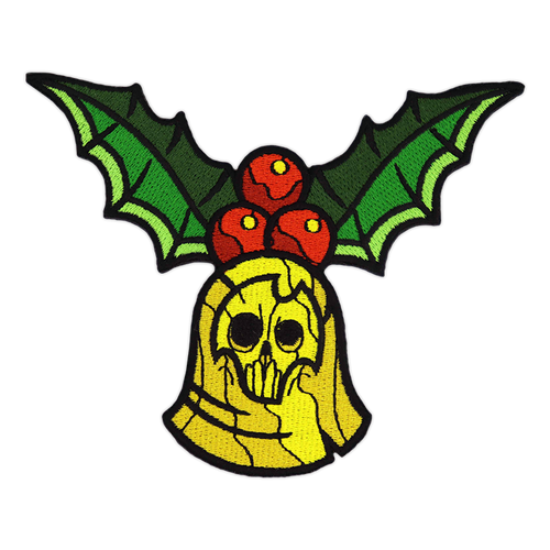 Christmas Skull Bell Patch by Seventh.Ink