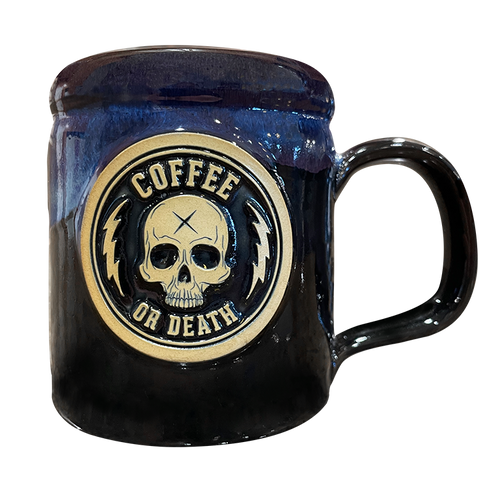 Coffee or Death Black/Galaxy Coffee Mug by Seventh.Ink