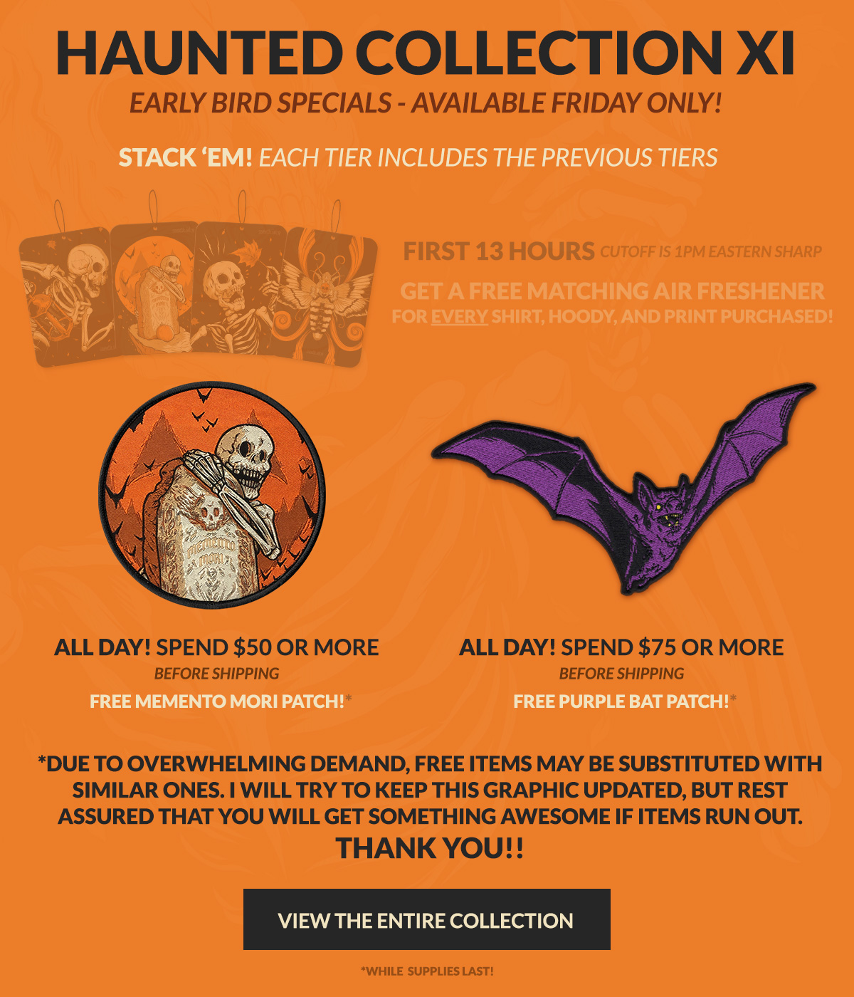 Haunted Collection XI Early Bird Specials