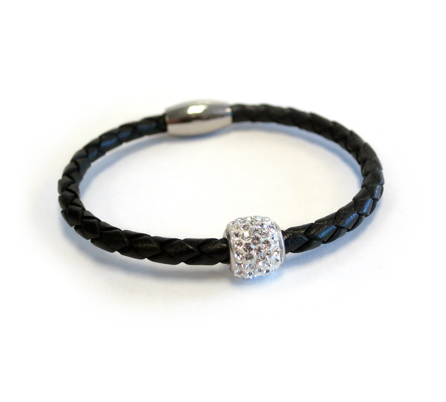 Single Bedazzle Leather Bracelet