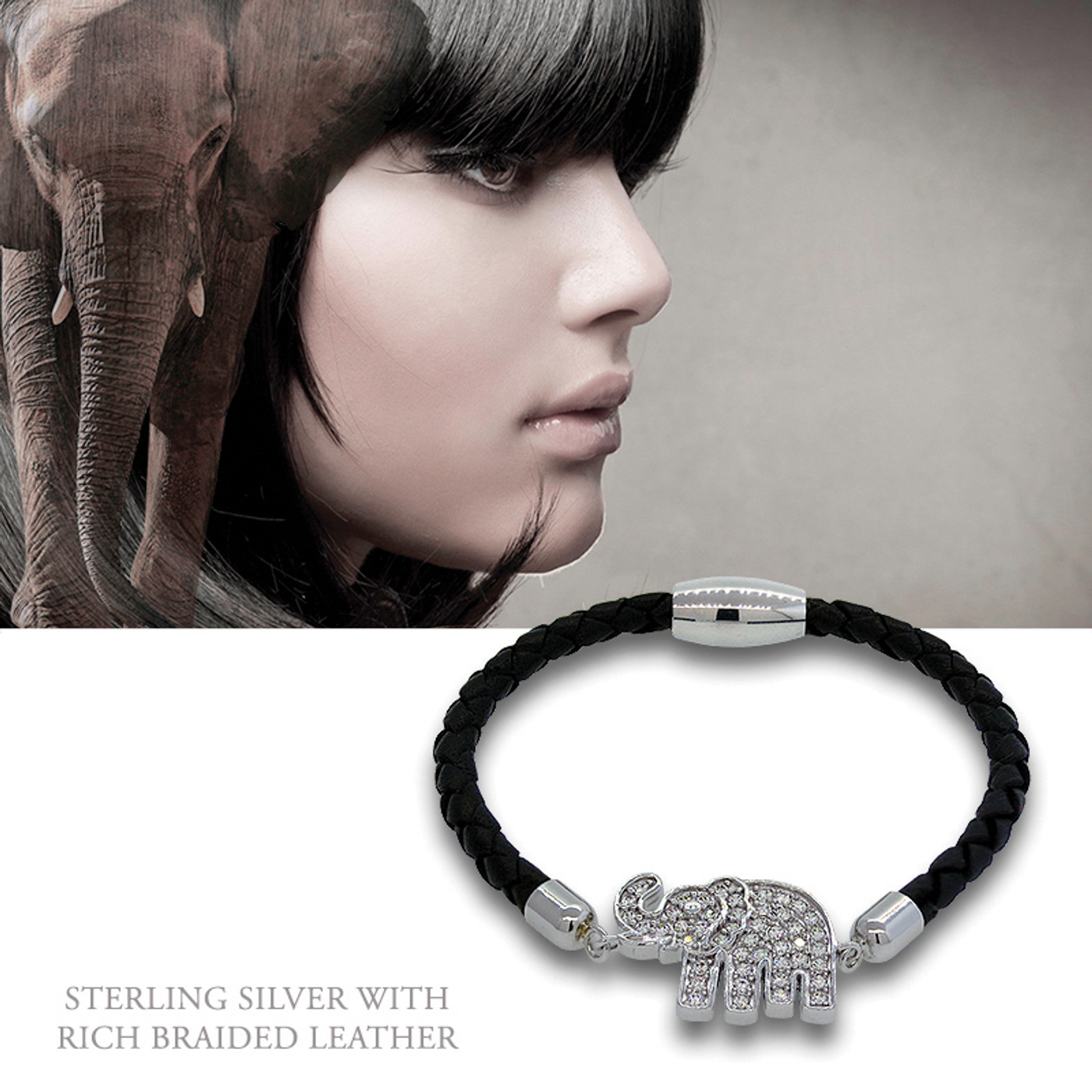Sterling Silver Lucky Elephant Gunmetal