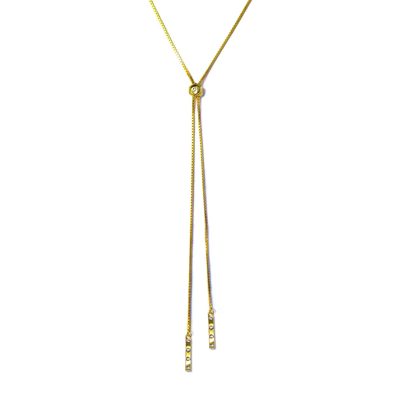Tic Toc Lariat Necklace