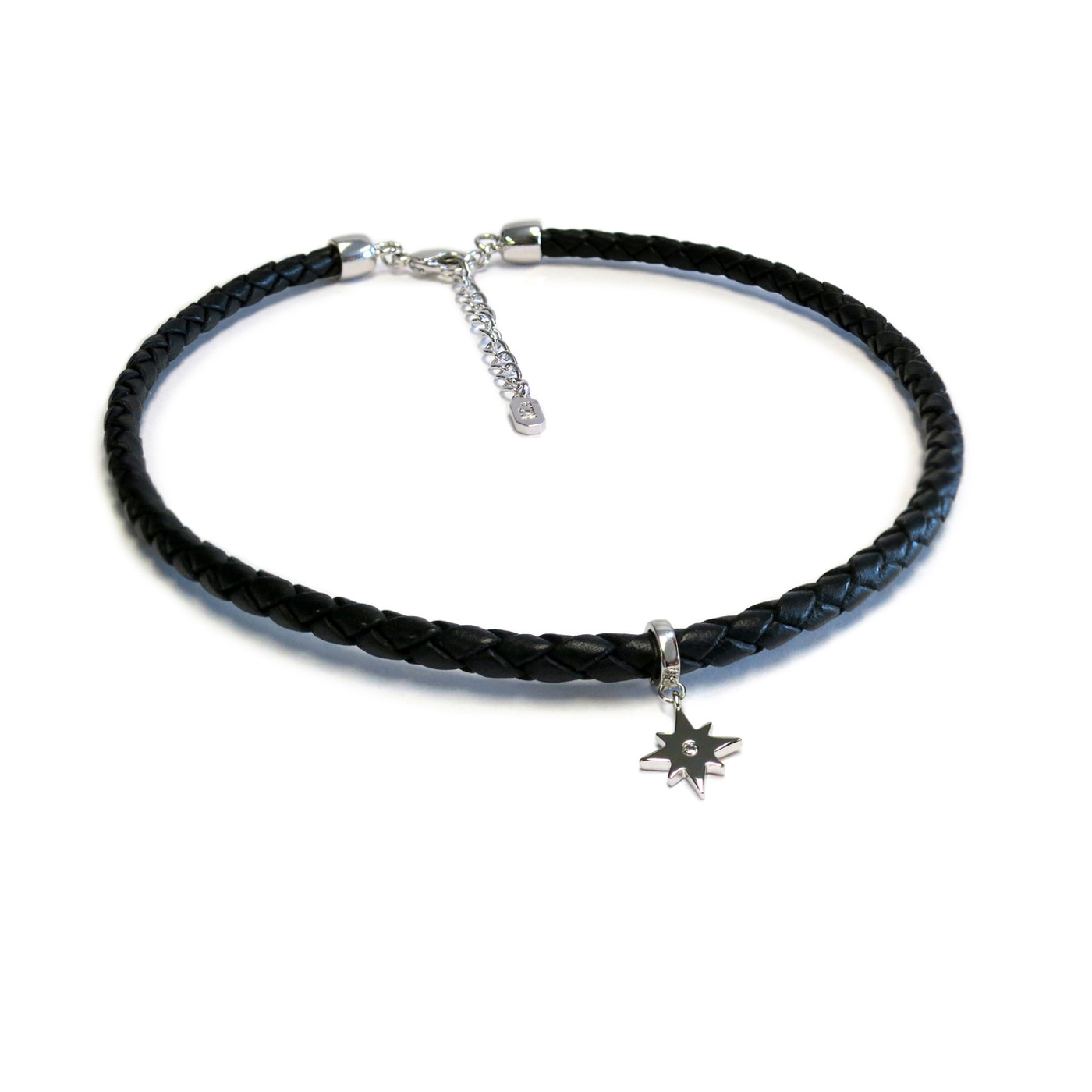 Silver Eternal Leather Choker